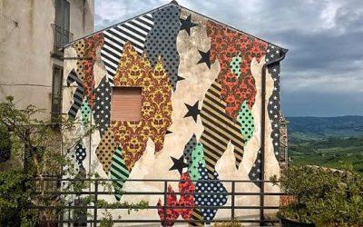 UNO's mural for CVTà Street Festival in Civitacampomarano, Italy
