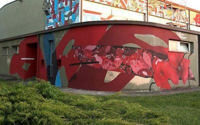 New wall by Giulio Vesprini 'Cerchio G022' in Servigliano, Italy