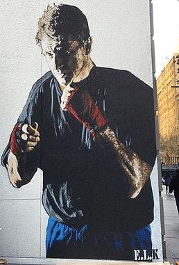 E.L.K paints in heart of Sydney