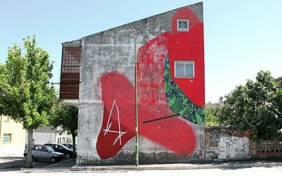 New wall by Giulio Vesprini 'Cerchio G024' in Italy