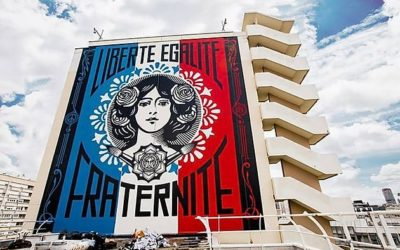 'Liberté, Égalité, Fraternité' by Shepard Fairey