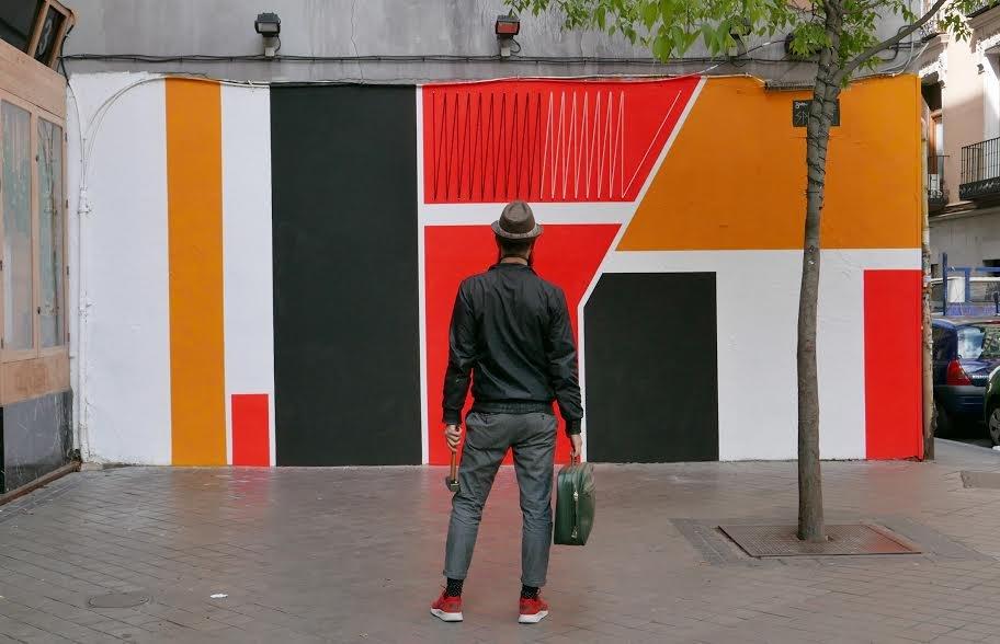 Spidertag Mural in Madrid