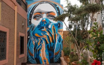 DOURONE Mural in Medina of Marrakech, Morocco