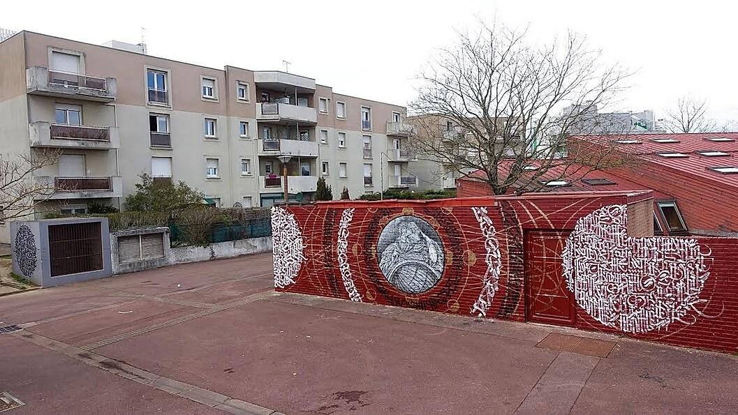 Said Dokins & Monkey Bird / New walls in Festival Street Art Evry Centre Essonne in Paris