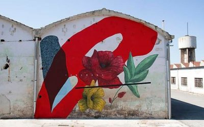 "Giulio Vesprini's newest wall ""Cerchio G021"" in Fermo, Italy"