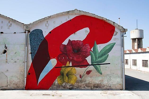 """Giulio Vesprini's newest wall """"Cerchio G021"""" in Fermo, Italy"""