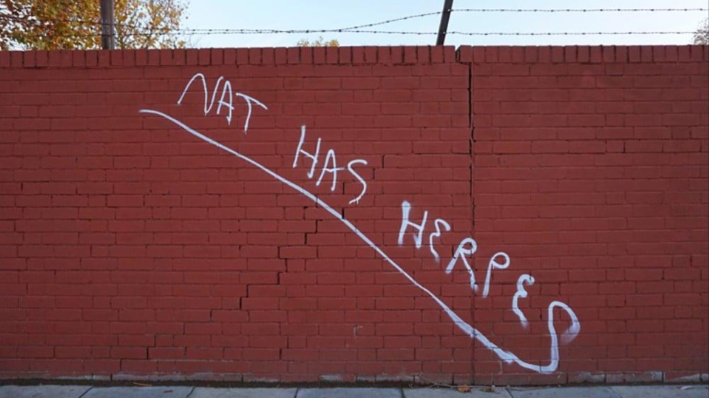 Nat Has Herpes Graffiti